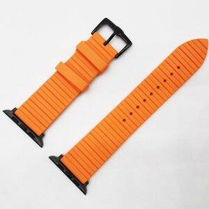 Image 4 - Correa de silicona para Apple Watch, pulsera de silicona para Apple Watch 6 5 4 42mm 44mm 38mm 40mm serie iWatch 6 5 4 3 2 1