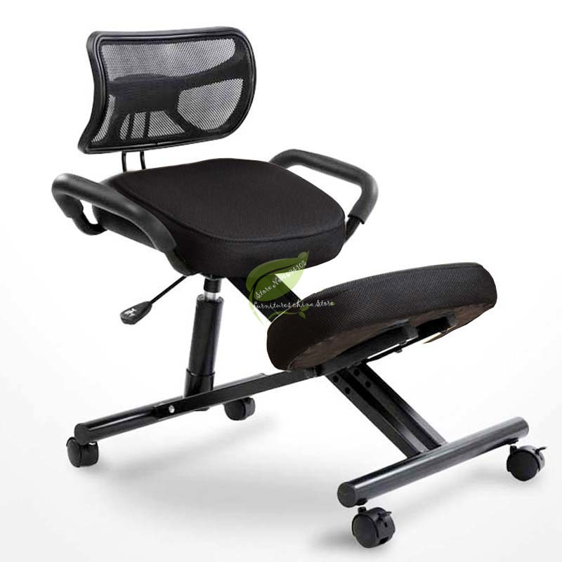 Home Office Designed Kneeling Chair Stool W/Handle Height Adjust Office Knee Chair Ergonomic Correct Posture Chair