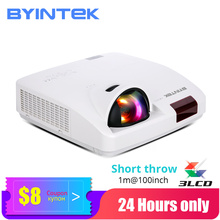 Byintek C600LST Korte Gooi Achter 3LCD Video Smart Wifi 1080P Full Hd Projector Voor De Klas Kantoor (Optioneel Android 10 Tv Box)