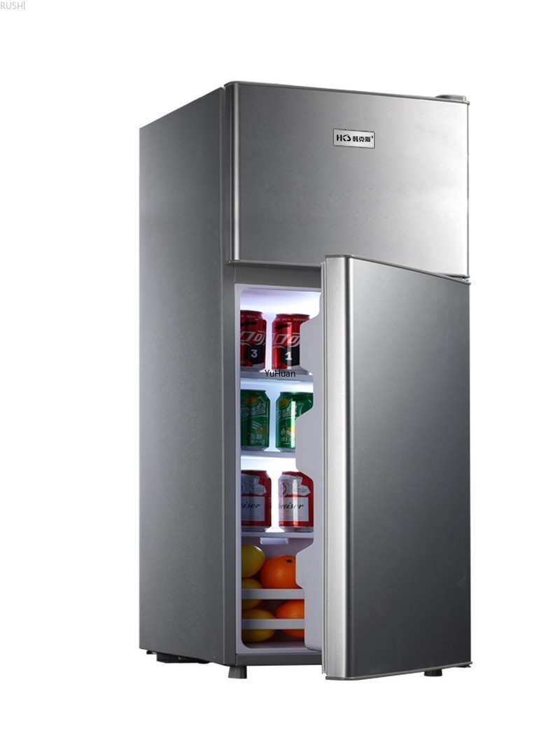 220V Household Double Door  Energy-saving Refrigerator Refrigerated  Refrigerator Fridge  Cold Storage & Freezing Refrigerator