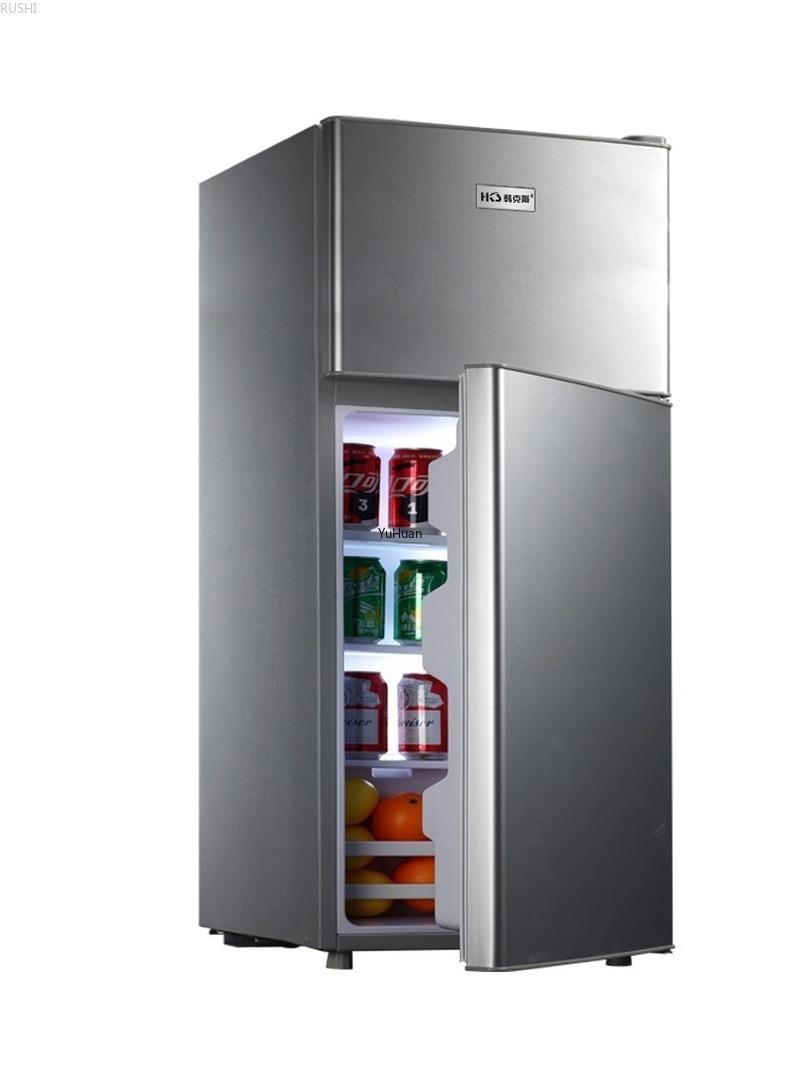 220V Household Double Door  Energy-saving Refrigerator Refrigerated  Refrigerator Fridge  Cold Storage & Freezing Refrigerator
