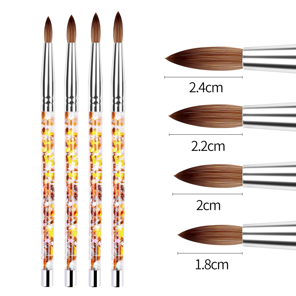 Professional Manicure UV Gel Brush Pen Transparent Acrylic Nail Art Painting Drawing Brush Phototherapy Tools