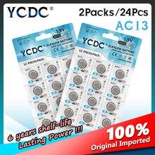 YCDC – lot de 24 piles alcalines 1.5V, pièces de monnaie à boutons, GP A76 GPA76 LR44 AG13 SR44, LR44 357 AG13 L1154