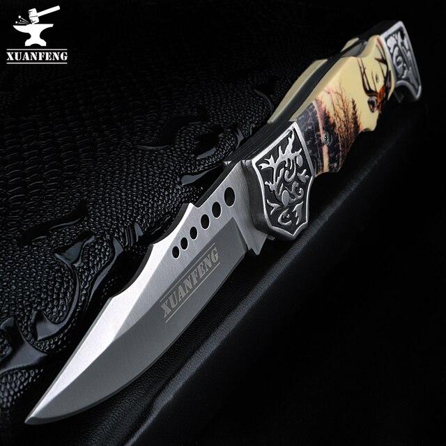 玄風水屋外の戦術的な狩猟ナイフ高硬度軍ナイフフォールディングナイフキャンプポータブルポケットナイフ