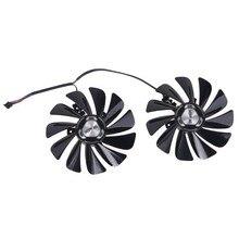 2 teile/satz 95mm FDC10U12S9-C RX5700 XT GPU Fan Für XFX RX 5600 5700 XT RAW II Grafikkarte Kühlung fan