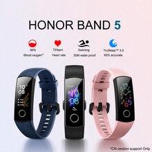 Huawei pulsera inteligente Honor Band 5, pulsera inteligente deportiva Huawei Honor band 5 de 0,95 pulgadas, resistente al agua, con Bluetooth y pantalla táctil