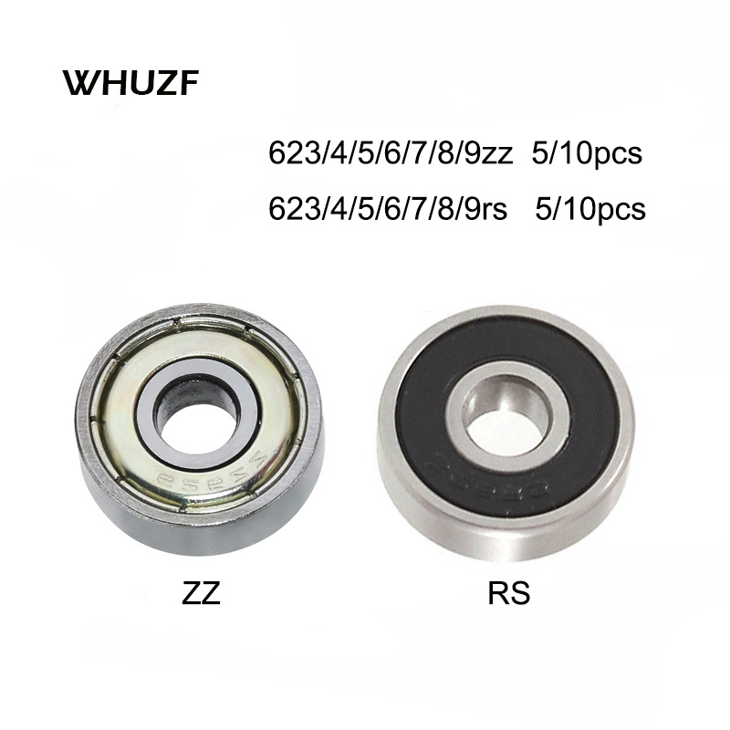 5/10PCS Ball Bearing 623rs Zz 624rs 625zz RS 635ZZ 626zz RS ZZ 3D Printers Parts Deep Groove Flanged Pulley Wheel Imprimante 3d
