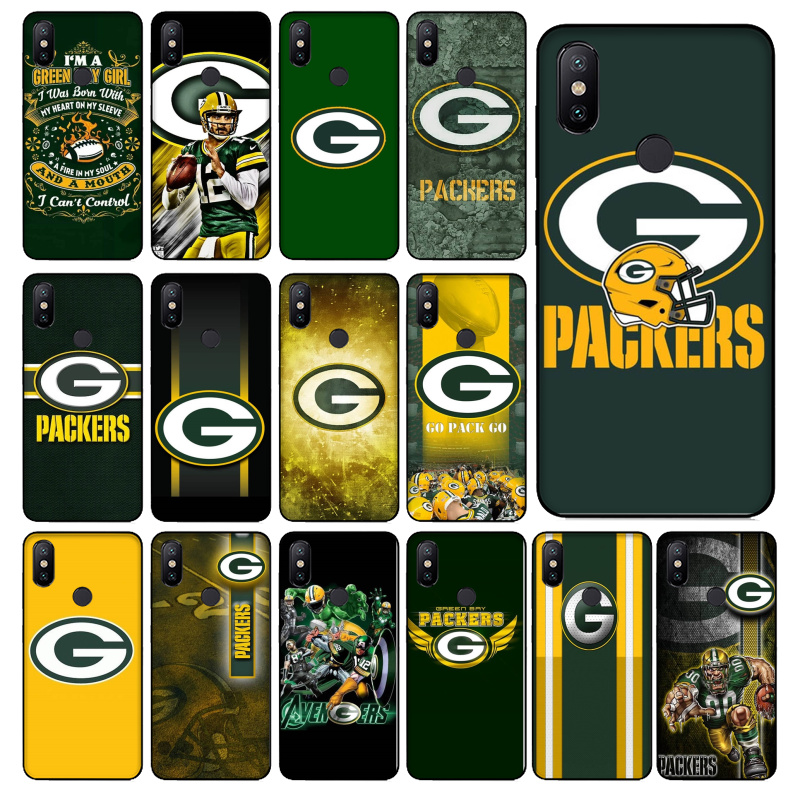 Green <font><b>Bay</b></font> Packers TPU Soft Silicone Black Phone Case for Xiaomi redmi note 7 Mi 9 Mix2 Mix2S Note3 8 8SE Redmi <font><b>5</b></font> 5Plus Note4 4X image