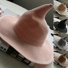 Смешная женская шляпа на Хэллоуин складная широкая ведра с защитой
