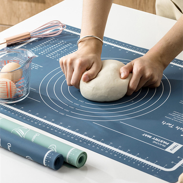 Food grade silicone kneading dough pad kitchen non-slip bread flour pad baking tools BPA Free Pastry mat with mesurement