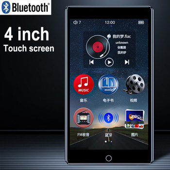 RUIZU H1 pantalla táctil completa reproductor MP4 Bluetooth 8GB reproductor de vídeo Con altavoz incorporado soporte FM Radio grabación música e-book