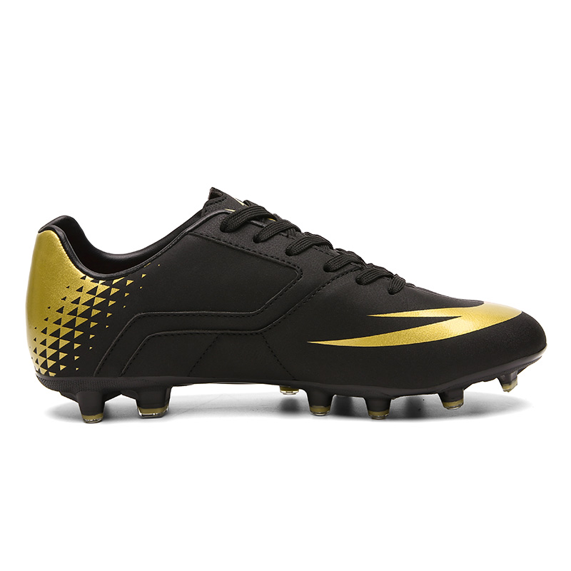 Mooyu Turf Indoor Black Men Soccer Shoes Kids Cleats Training Football Boots High Ankle Sport Sneakers Size 39-45 Dropshipping