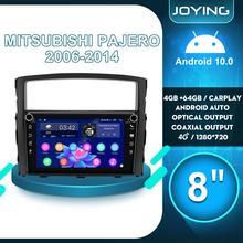 """8 """"android 10 rádio do carro multimídia de áudio gps dvr player para mitsubishi pajero v80 v90 2006 2014 carplay sem fio android auto 4g"""