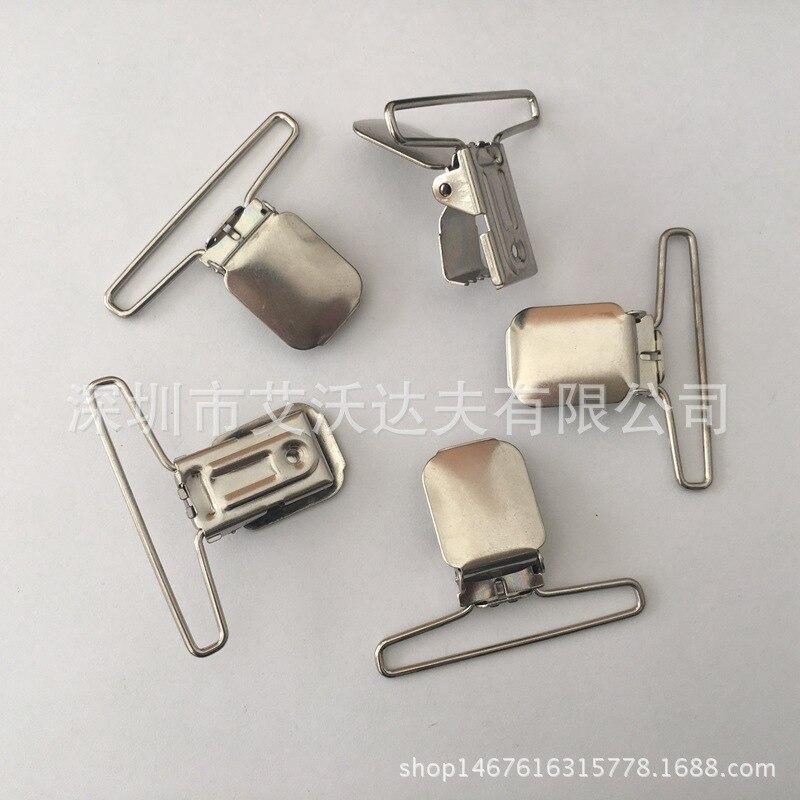 Duckbill Buckle Manufacturers Direct Selling 50mm Nickel Suspenders Duckbill Clip Suspender Pants Clasp Adjuster
