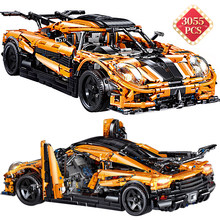 Alta-tecnologia especialista kit criador especialista tijolos furiosos super modelo de carro moc conjunto blocos de construção do carro brinquedos namorado presente de aniversário