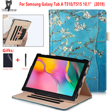 Luxury Case for Samsung Galaxy Tab A 10 1 2019 Tablet Case Cover for Samsung Galaxy Tab A 10 1 2019 SM-T510 SM-T515 +gifts cheap Protective Shell Skin 10 1 Solid 15cm Fashion for Samsung Galaxy Tab A 10 1 SM-T510 SM-T515 Shockproof Drop resistance