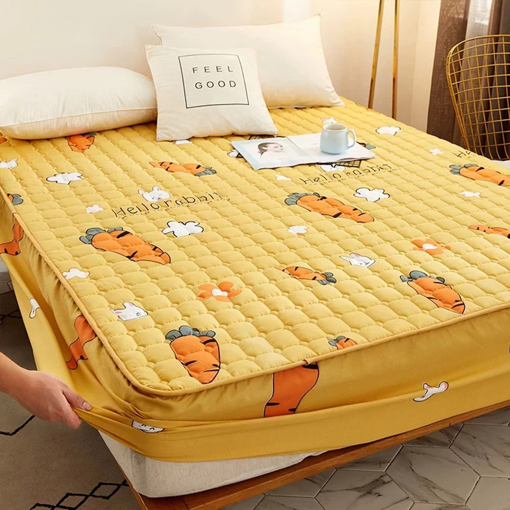 Mattress cover Anti-mite and antibacterial protective cover Pure cotton printing bedspread Elastic waterproof sheets