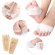 1Pair Silicone Forefoot Pads Shoes Insoles Pedicure Socks Toe Spacer Cushion Pad Finger Toe Separator Gel Pads Foot Care Tools