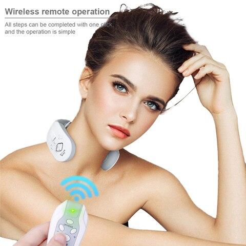 inteligente eletrica pescoco e ombro massageador alivio da dor ferramenta cuidados de saude relaxamento cervical