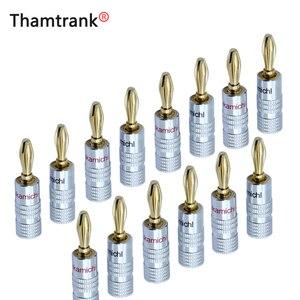Image 1 - Conectores Banana para altavoz de vídeo, conectores de alta calidad Nakamichi dorados de 24K, 100 Uds./50 pares, Color negro y rojo