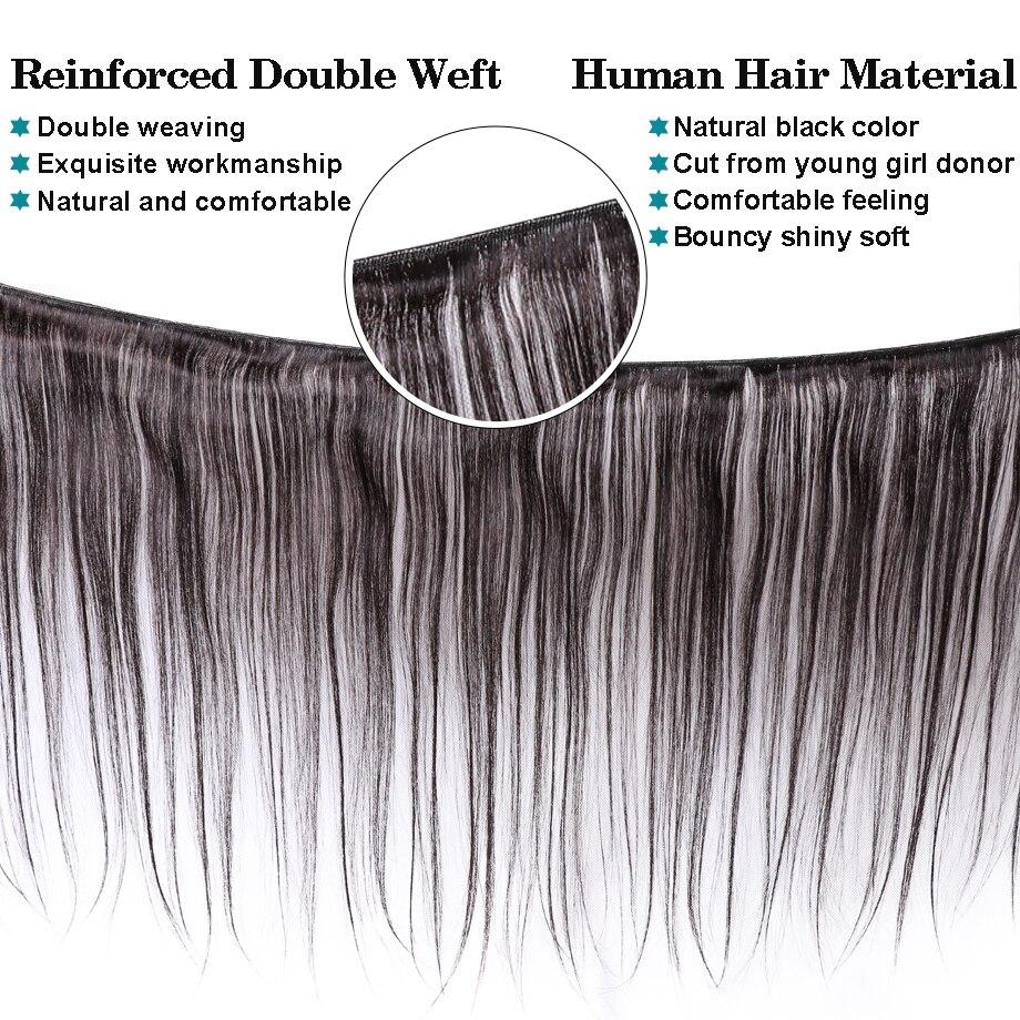 H747380793b1946a98713b18a1f9b9870O [BY] Straight Hair Bundles With Closure Natural Human Hair 3 Bundles With Closure Brazilian Hair Weave Bundles 4x4 Swiss Lace
