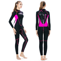 SLINX cold warm diving suit 3mm one piece diving suit female wetsuit diving surf clothing one generation