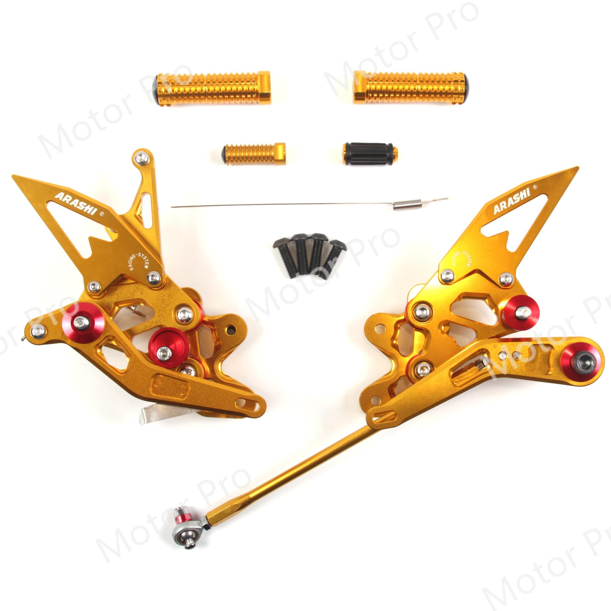 Adjustable Footrests For SUZUKI GSXR 600 750 2011 - 2017 Motorcycle Accessories Rearset Pedal GSX R GSX-R GSXR600 GSXR750 GOLD