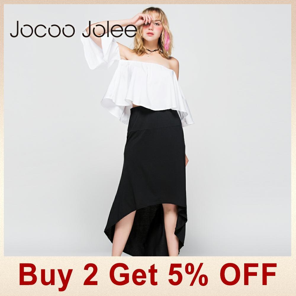 Jocoo Jolee Gratë asimetrike pantallona të gjelbërta Bishti i - Veshje për femra - Foto 2