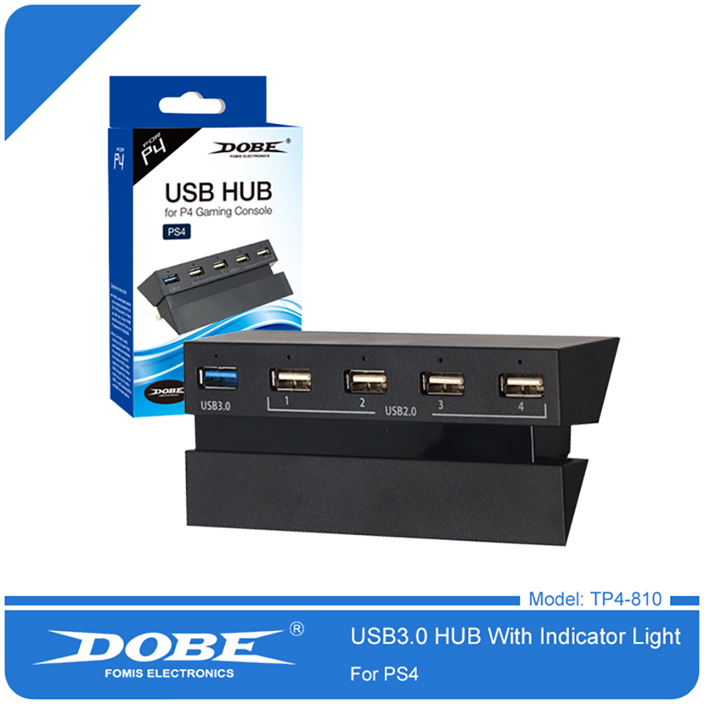 5-Port USB Hub for PS4 High Speed Charger Controller Splitter Expansion Adapter