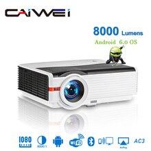 Caiwei A9/A9AB Full HD проектор домашний кинотеатр 4K 3D видео проектор Смарт Android Светодиодные проекторы Поддержка AirPlay с WiFi