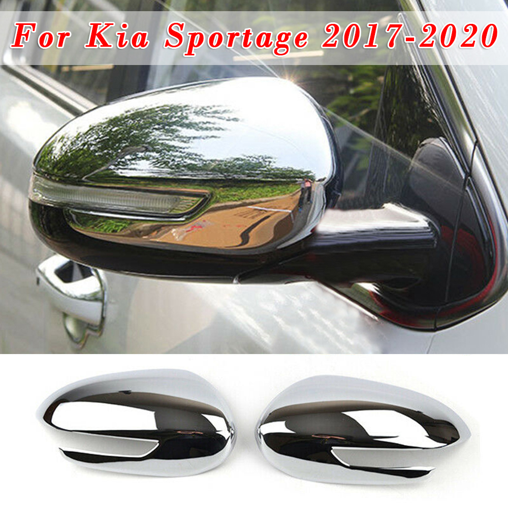 2pcs <font><b>Chrome</b></font> Rear View <font><b>Mirror</b></font> Stickers Car-Styling Cover For <font><b>Kia</b></font> Sportage 2017-20 image