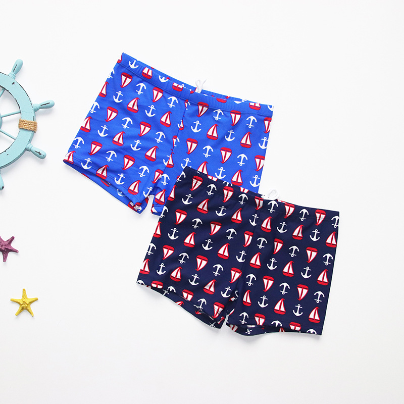 CHILDREN'S Swimming Trunks 10-13-Year-Old South Korea Men's Small CHILDREN'S Swimming Trunks Children Boxers 8708