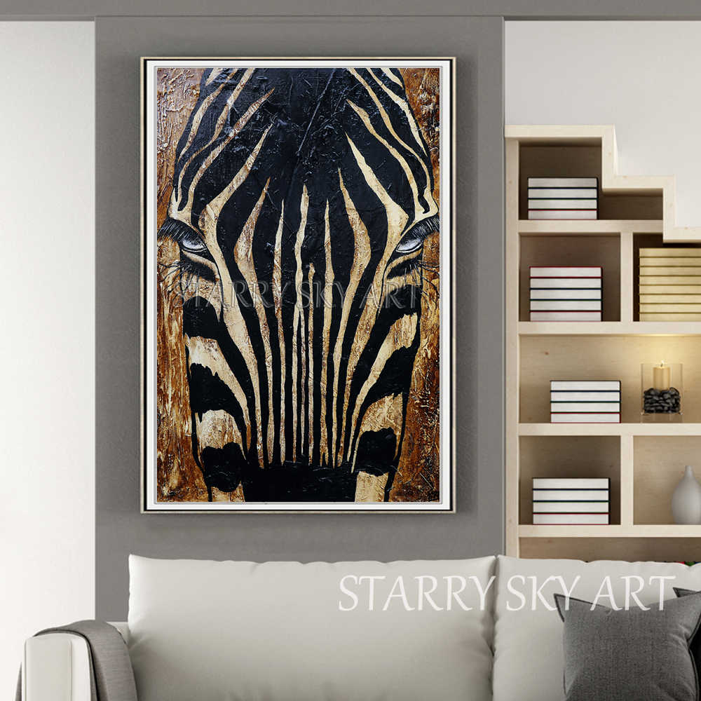 الفنان رسمت باليد الأفريقي الحصان الحيوان الاكريليك اللوحة على قماش الأفريقية الحصان زيبرا الاكريليك اللوحة لتزيين الجدران