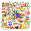 50 PCS Cartoon Sloths Stickers for Laptop Car Bicycle Guitar Fridge Luggage Phone Ps4 Waterproof Cute Animals Sticker Decals flash sale