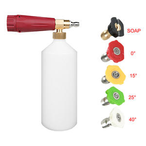 Snow-Foam-Lance Washer Nozzles Foam-Generator Quick-Release High-Pressure with 5PCS Metal