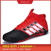 BOUSSAC Men Superfly Original Soccer Shoes High Ankle Football Boots Indoor Turf Soccer Cleats Man Training Futsal Sneakers sufei men football boots tf high ankle superfly soccer shoes turf cheap sock cleats kids futsal sport training sneakers