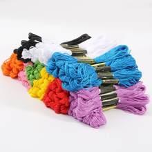 10/20 Uds ancla de algodón de Color Cruz puntada ovillos de costura de hilo de bordado Kit de seda de costura DIY Accesorios