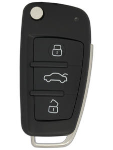 WhatsKey Top Quality 3 Buttons Flip Car Key Remote Folding Key Cover Shell Fob Case Key For Audi TT Q3 A8 A6 c5 c6 A4 b6 b7 A3