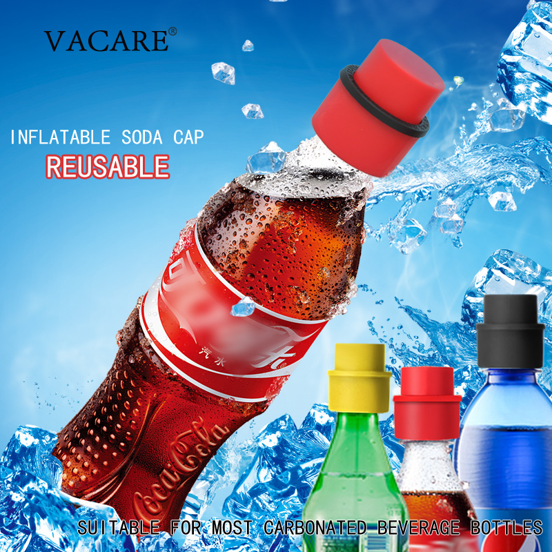 Soda Cap Inflatable Air Tight Soda Sealer Fizzy Drink Carbonated Beverage Cola Bottle Stopper Saver Carbonation Keeper(China)