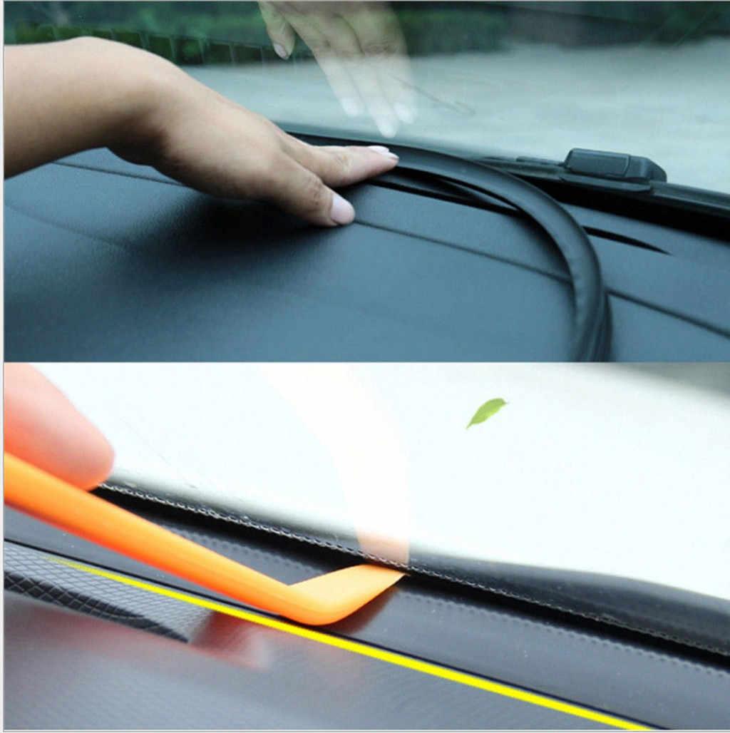 1.6 M Mobil Dashboard Tepi Penyegelan Strip Pola Serat Karbon Isolasi Kebisingan Kaca Depan Gap Penyegelan Strip Karet # YL1