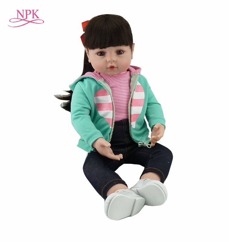 NPK Bebes Reborn poupée 47CM silicone poupée fille Reborn bébé poupée jouet réaliste nouveau-né princesse victoria Bonecas Menina pour