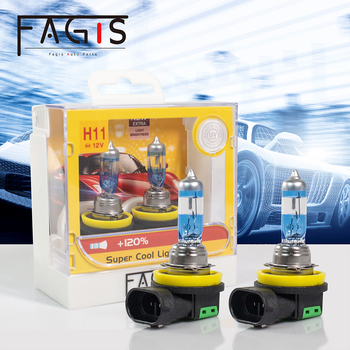 Fagis 2pcs 12v 55w H8 H9 H11 9005 Hb3 9006 Hb4 Halogen Bulb Car Fog Light Auto Lamps Halogen Headlight White Fog Lights цена 2017