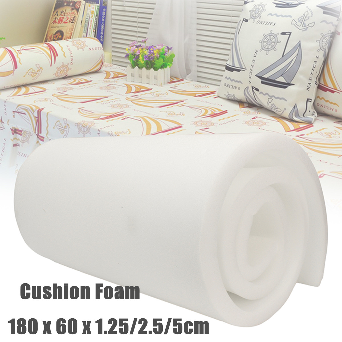 71x24 Inch High Density Foam Seat Cushion Replacement Upholstery