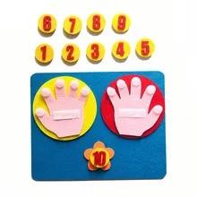 Math-Toy Craft Montessori Teaching-Aids Finger-Numbers Felt Handmade Counting Kids Children