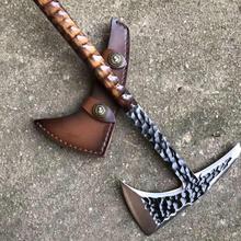 Yeelong CUSTOM HAND MADE Tactical Axe TOMAHAWK VIKING HATCHET BEARED CAMPING AXE HEAD