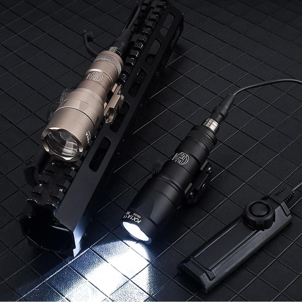 WADSN Airsoft Surefir M300 M300A мини винтовка вспышка светильник 280 люмен светодиодный охотничий охотничьего оружия светильник с двумя Функция лента пер...
