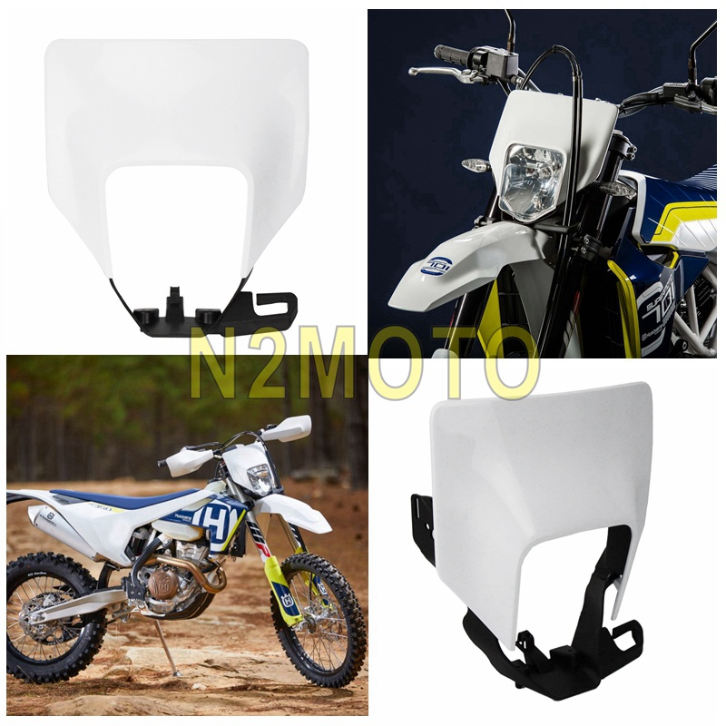 Motorcycle White Headlight Headlamp Cover for <font><b>Husqvarna</b></font> 701 Supermoto FE 250 350 450 501 TX <font><b>TE</b></font> 125 150 250 <font><b>300</b></font> 2017 2018 <font><b>2019</b></font> image