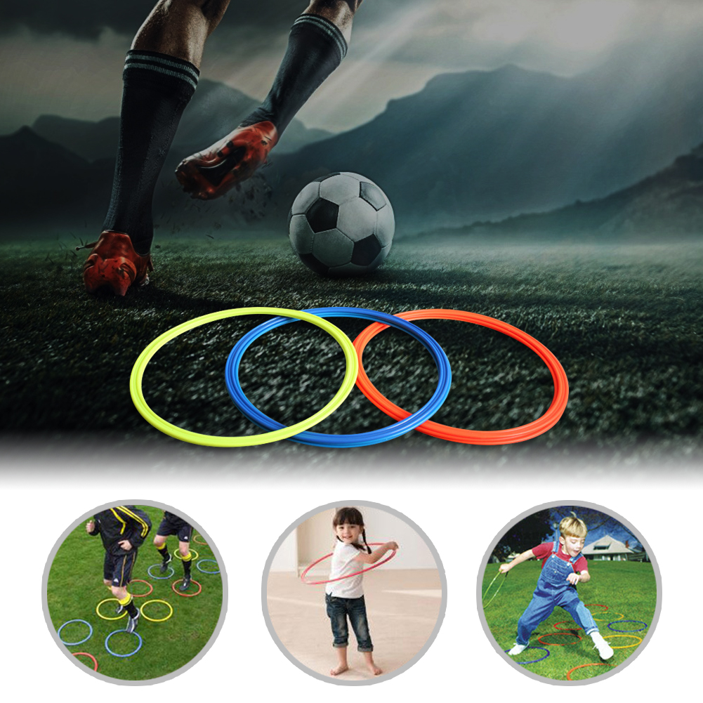 5pcs 30cm 40cm Dia Soccer Speed Agility Rings Football Training Equipment Gear Durable Agility Training Rings Classic Delicate