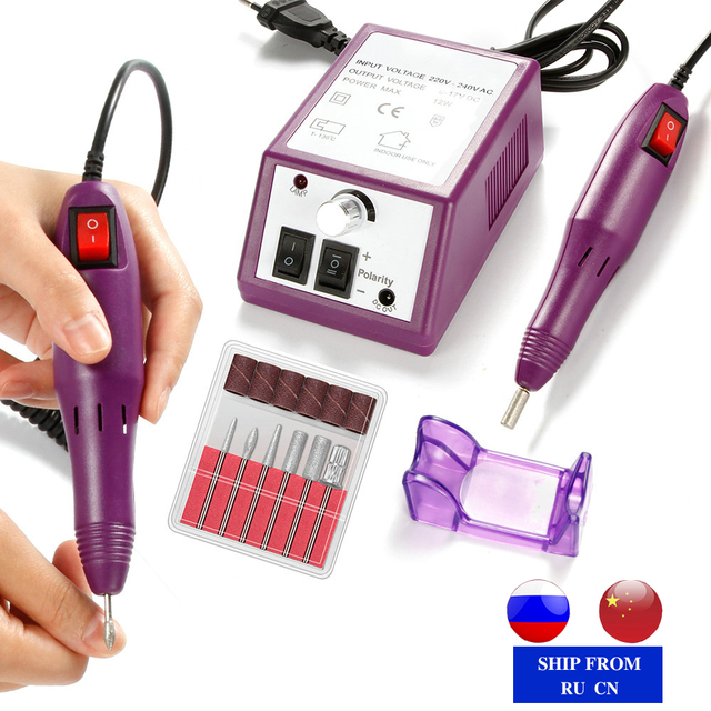 Elektryczna maszyna do Manicure pilnik do polerowania paznokci zestaw narzędzi wiertło do paznokci ceramiczne frezy do żel do Manicure lakier usuń