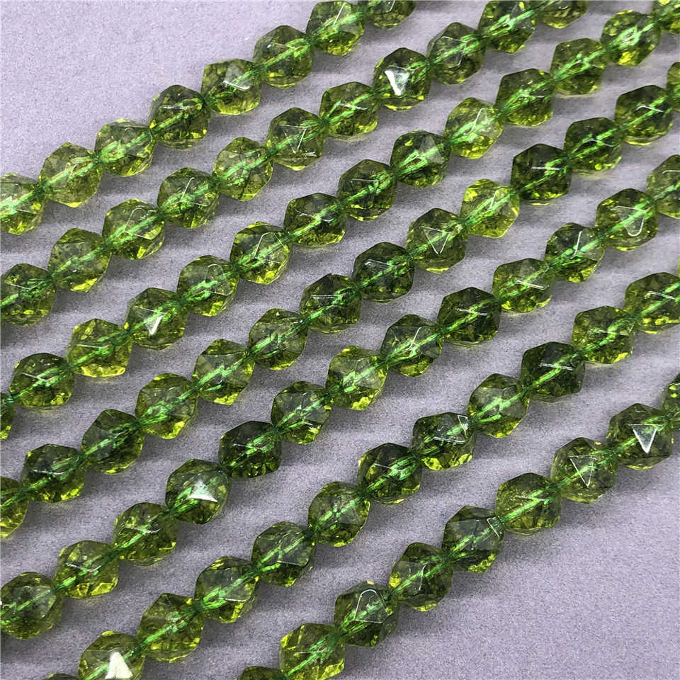 20 Small Peridot Green Semi-Precious Rondelle Shaped Stone Beads 5x3mm Small Clear Green Faceted Stone Beads Light Green Peridot Bead #S1592